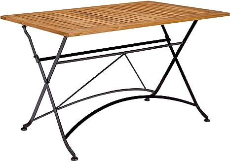 Butlers Parklife Gartentisch Aus Holz 130x80x75 Cm Garten Tisch Klappbar Aus Fsc Akazienholz Und Metall Holztisch Fur Garten Oder Terrasse Amazon De Kuche Haushalt