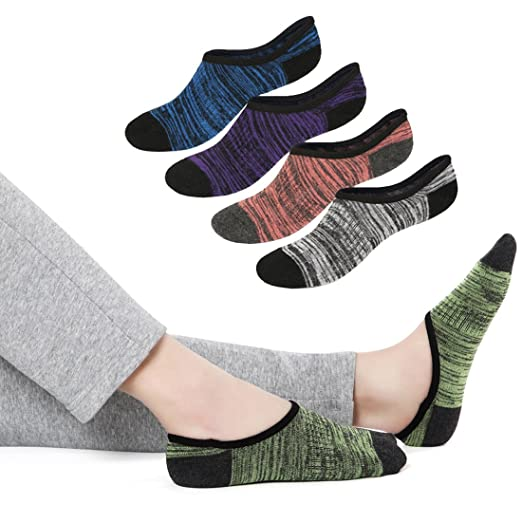 No Show Socks Women Low Cut With Non Slip Grip Casual Socks for Spring  Autumn Winter 2091495ab5