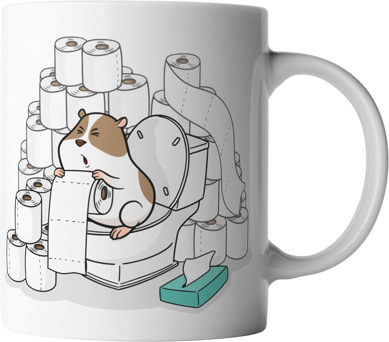 VanVerden – Taza – Papel higiénico König Hamsterkäufe Coronavirus 2020 COVID-19 – Estampado por ambos lados – Regalo Idea tazas de café con texto, cerámica, Blanco
