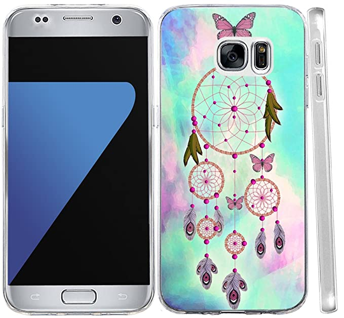 41f346efaf6 Amazon.com: Galaxy S7 Case Dreamcatcher, Hungo TPU Rubber Cover for ...