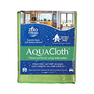 "AquaCloth AQ500 AquaCloth AQ500 Nano-Fiber 18"" x 15"" Cleaning Towel (1 Pack of 2 Cloths), Thickness, (): Industrial & Scientific"
