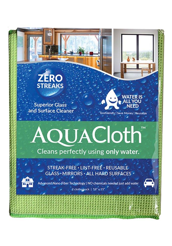 AquaCloth AQ500 AquaCloth AQ500 Nano-Fiber 18'' x 15'' Cleaning Towel (1 Pack of 2 Cloths), Thickness, ()