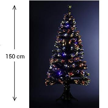 15b89b0586572 DECO NOEL - Sapin de Noël artificiel lumineux en fibre optique + 170 LED -  livré