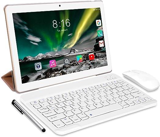 Tablet 10 Pulgadas 8 Core - TOSCIDO Android 10.0 Certificado por Google GMS 4G LTE Tablets,4GB de RAM y 64 GB,Dobles SIM, GPS,WiFi,Teclado ...