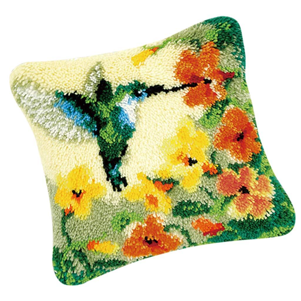 SM SunniMix 1 Set Latch Hook Kits DIY Sunflower Pillow//Cushion Cover Making Kits 16x16inch
