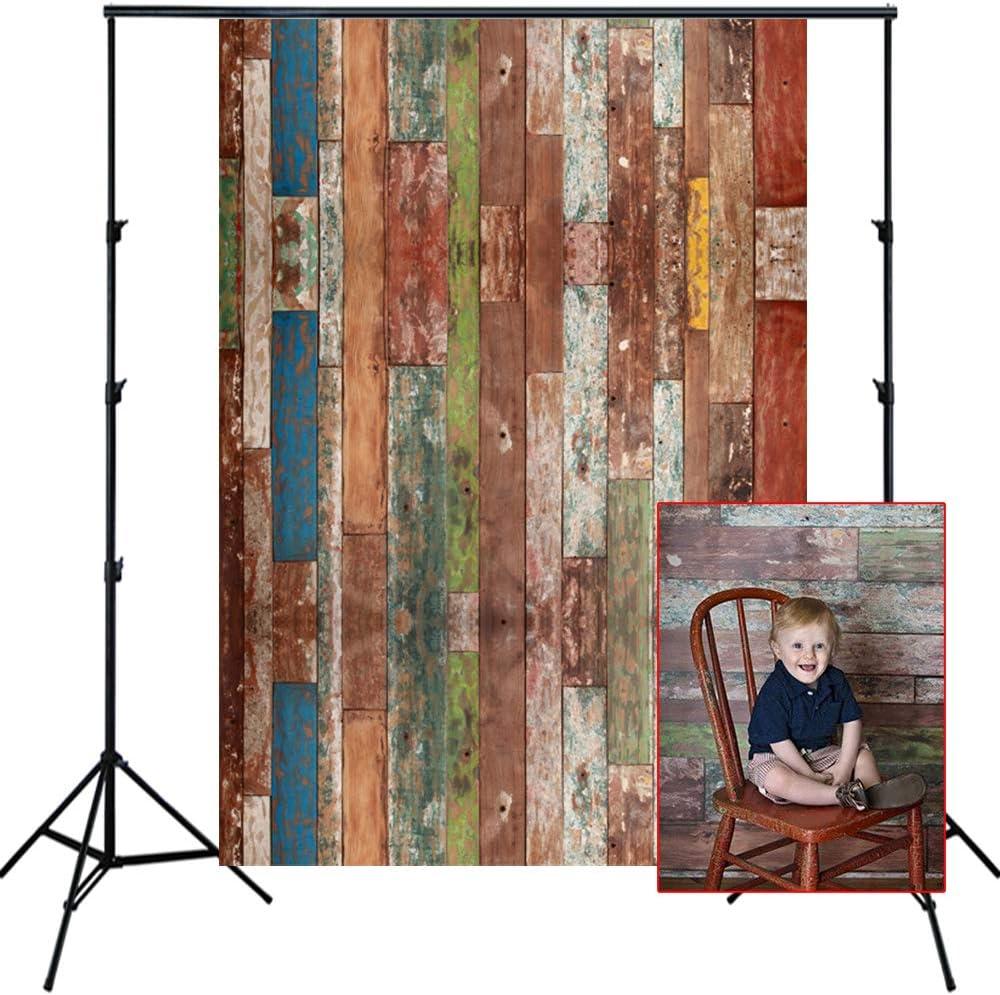 Aosto Photography Backdrop Old Vintage Wood Floor Photo Booth Background Customize Newborns Child Birthday Studio BackdropD-1257