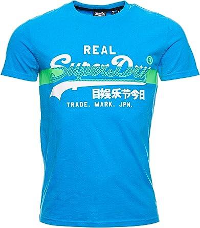 TALLA XS. Superdry VL Cross Hatch tee Camiseta para Hombre