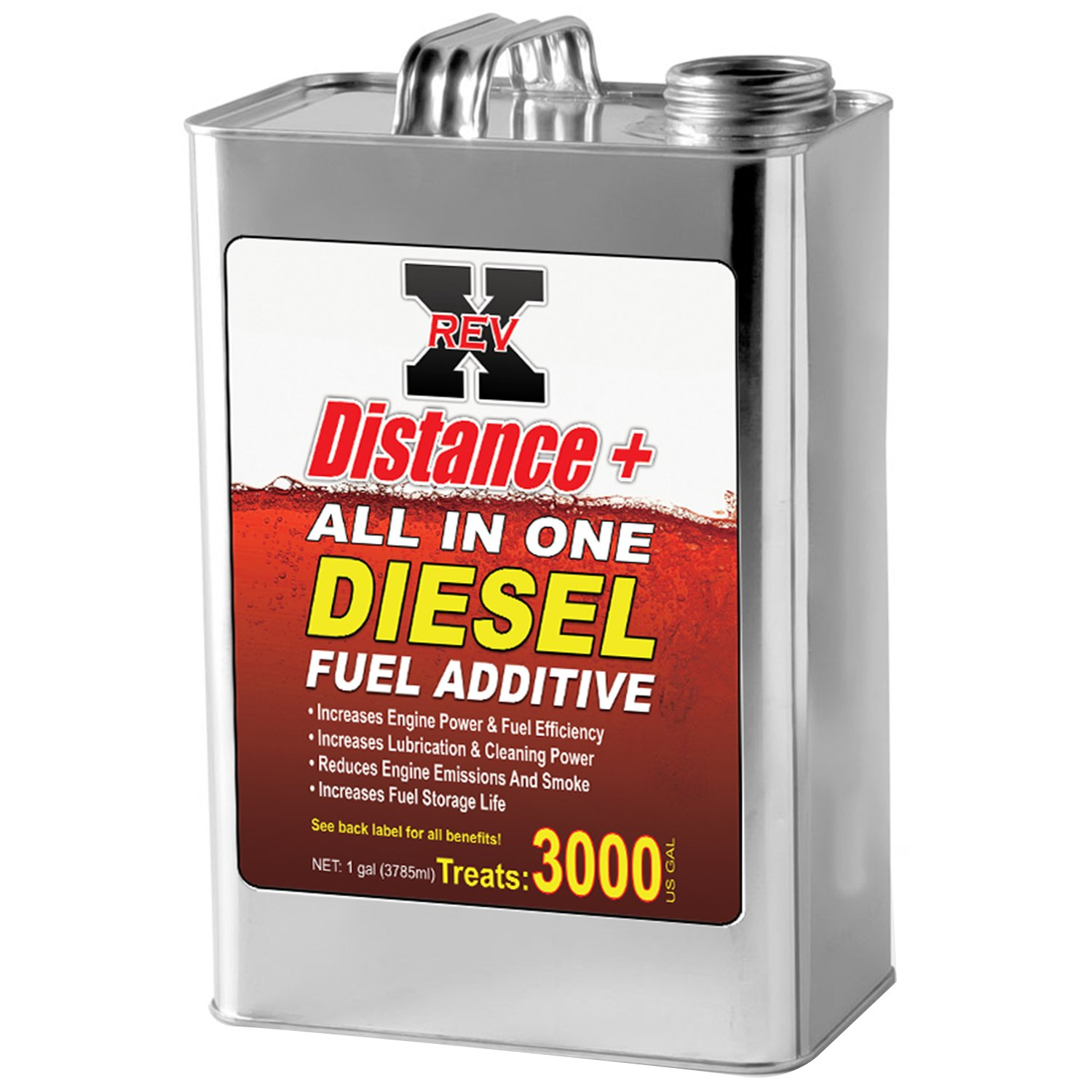 REV X Distance + Diesel Fuel Additive - 1 Gallon Treats 3000 Gallons by REV-X