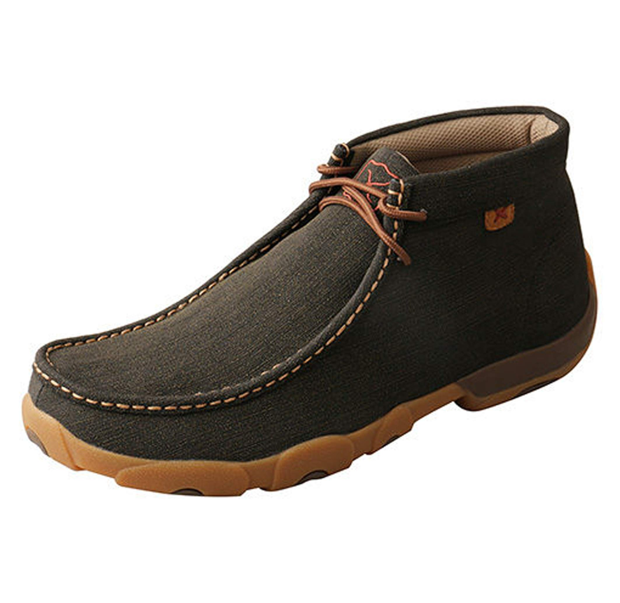 Twisted X Men's Work Steel Toe Chukka Driving Moc, Rubberized Brown - 14 by Twisted X