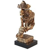 GoldBearUK Shh. be Quiet bronzo scultura–viso astratto moderno