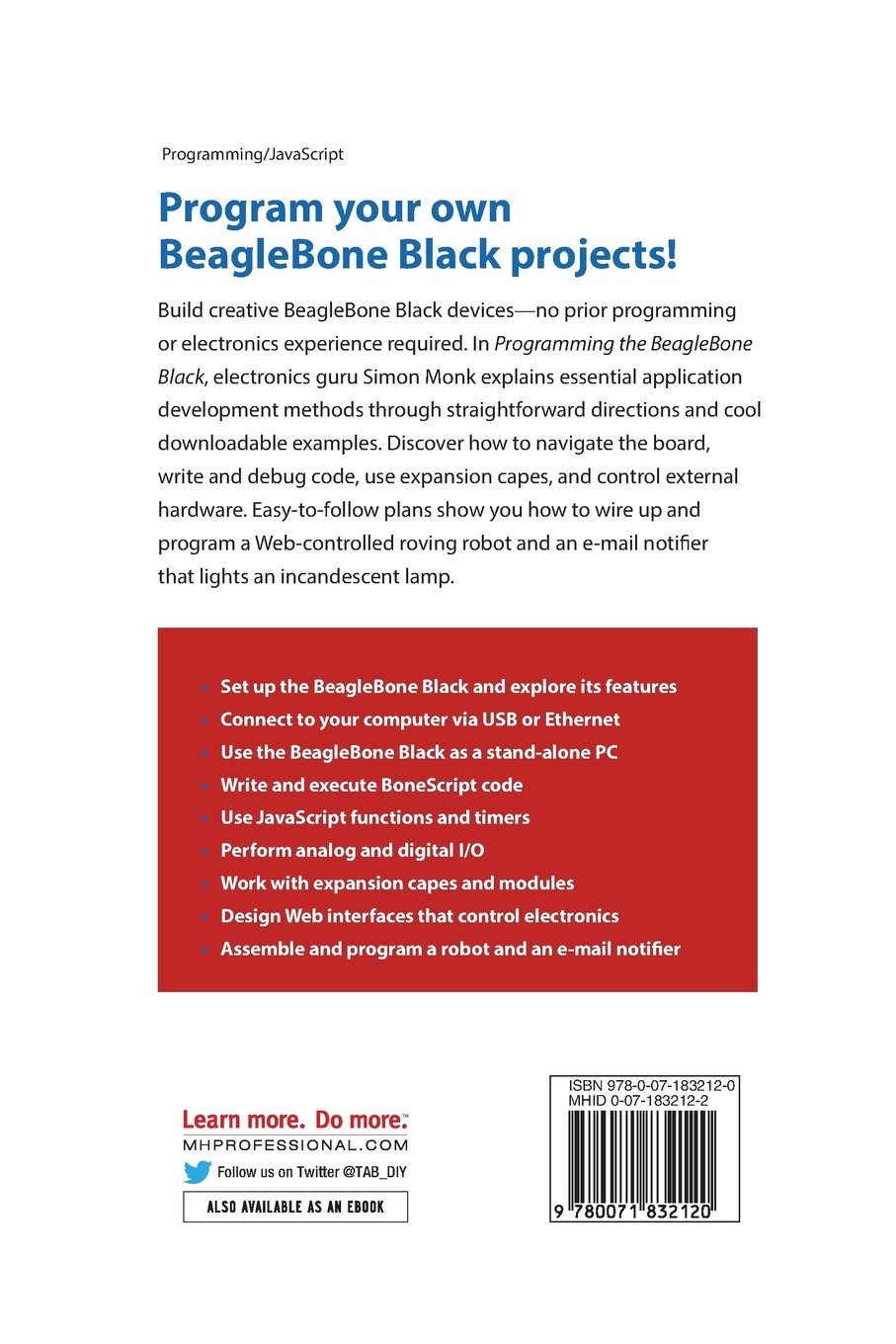 Buy programming the beaglebone black getting started with buy programming the beaglebone black getting started with javascript and bonescript book online at low prices in india programming the beaglebone black fandeluxe Image collections