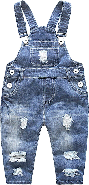 FEOYA Ni/ños Beb/é Petos Vaqueros Overalls Denim Pantalones Tirantes Largos Jeans Strench Casual 0-2 A/ños