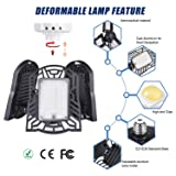LED Garage Lights, 10000 Lumens Deformable Trilight