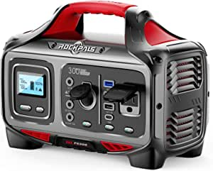 ROCKPALS Portable Power Station 300W, 280wh Solar Generator with 110V Pure Sine Wave AC Outlet, USB-C PD Input/Output, QC 3.0, CPAP Backup Lithium Battery for Outdoor Camping Adventure Emergency