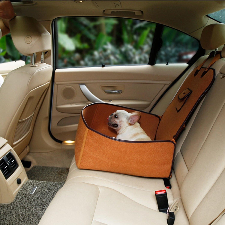 45 * 45 * 60CM Hundesitz Auto aus nat/ürlichem Filz f/ür Beifahrerseite oder R/ücksitz mit Sitzanker TapTap Hunde Autositz f/ür Kleine und mittlere Hunde