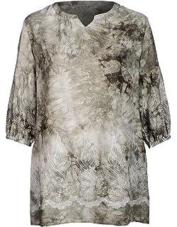 fdcd6f98f8fa THEA by Adler Mode Damen Bluse mit Blümchendruck - Top, T-Shirt, Blusenshirt