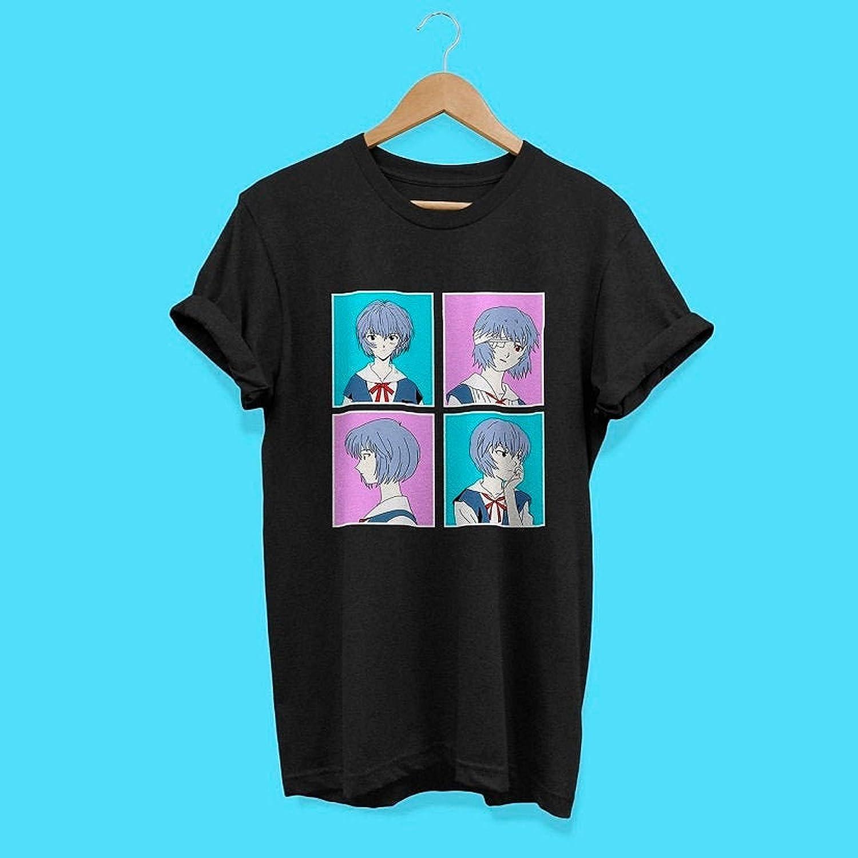 Shinji 80s Retro Evangelion shirt Asuka Synthwave Unisex Rei shirt Neon Genesis Evangelion Rei Ayanami Vaporwave Anime shirt