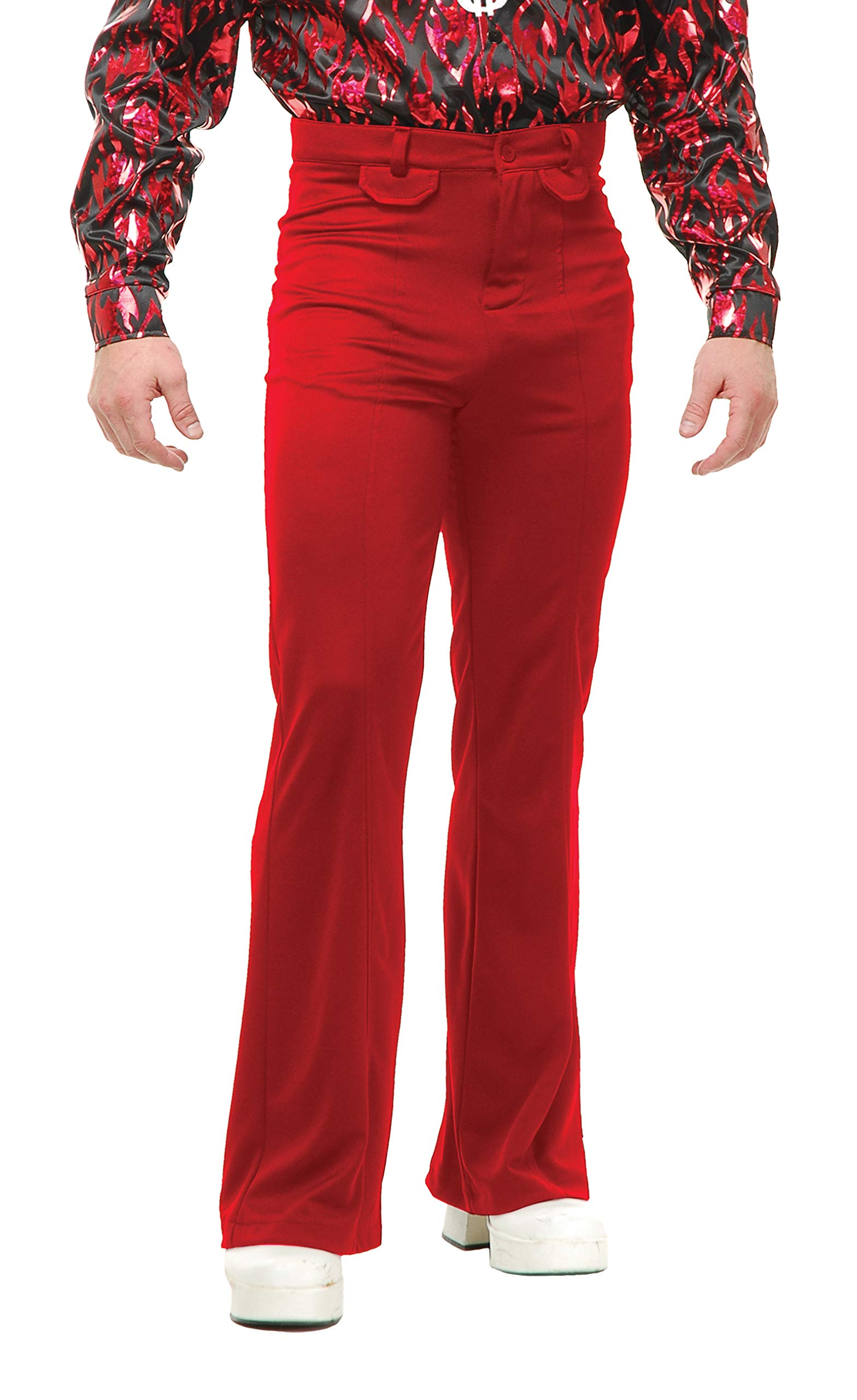 Charades Men's Disco Pants, Red, 38