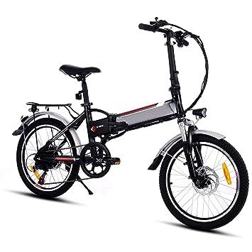 ZOKEO 18.7 Pulgadas Rueda de Aleación de Aluminio Marco Plegable montaña Mountain Bike 250 vatios 36
