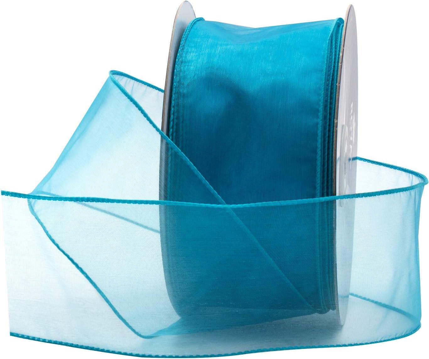 50 Yards dark blue Sheer Organza Ribbon 20mm Wide S4054