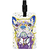 "Kess InHouse Rebecca Fischer ""Niko"" French Bulldog Decorative Luggage Tag, 4 by 4-Inch"