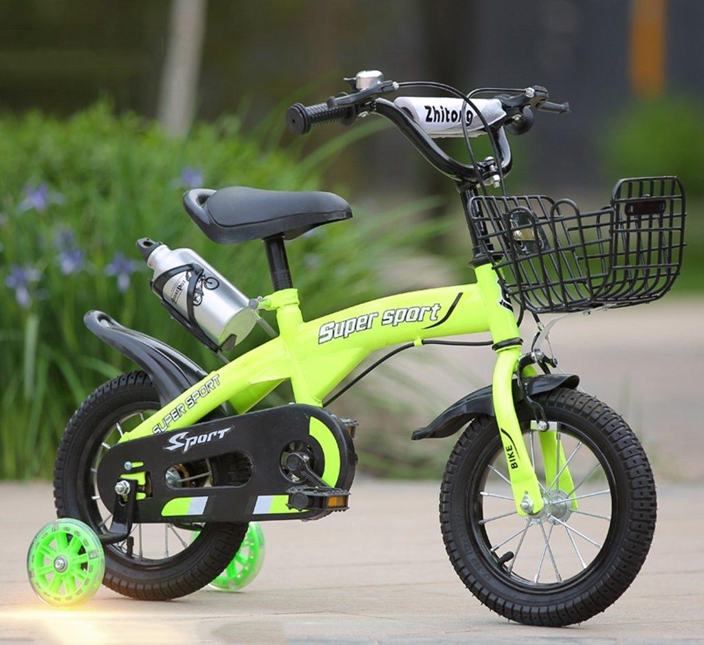 QFF 子供用自転車、グリーンオプションのフラッシュアシストホイールリアシートケトル高炭素鋼ボディ丈夫で安全な子供用に設計された2-10 88-121CM ZRJ (色 : C, サイズ さいず : 121CM) B07DNY8ZRH 121CM|C C 121CM