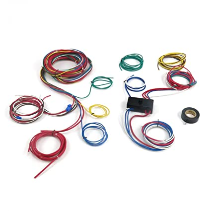 amazon com: keep it clean wiring accessories kicprocomp6 dune buggy universal  wiring harness w/fuse box fits empi 9466 vw rail buggy: automotive