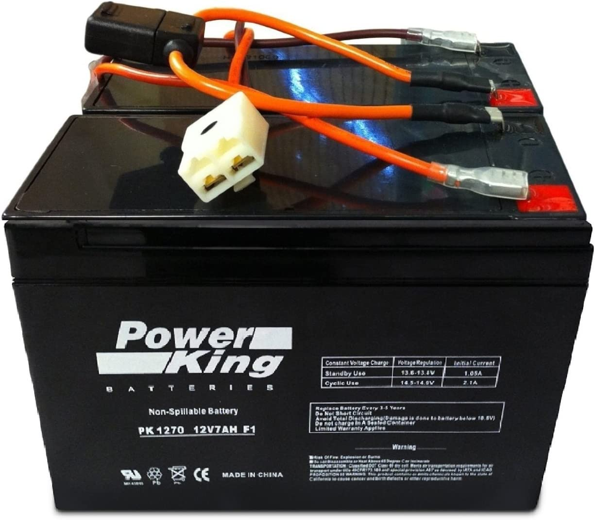 amazon.com: this is compatible with the razor 12 volt 7ah electric scooter  batteries set of 2 includes new wiring harness instructions included!  6-dw-7 beiter dc power brand high capacity: automotive  amazon.com