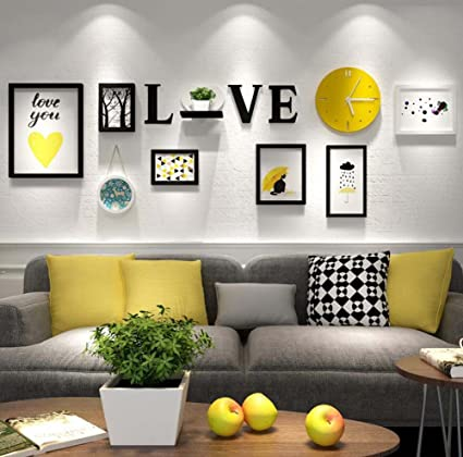 Amazon.com : TV Background Wall Hanging Painting Combination ...