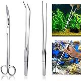 UEETEK Aquarium Kit outil accessoires inox Aquarium réservoir eau plante pinces ciseaux outils Set poisson Starter Kits