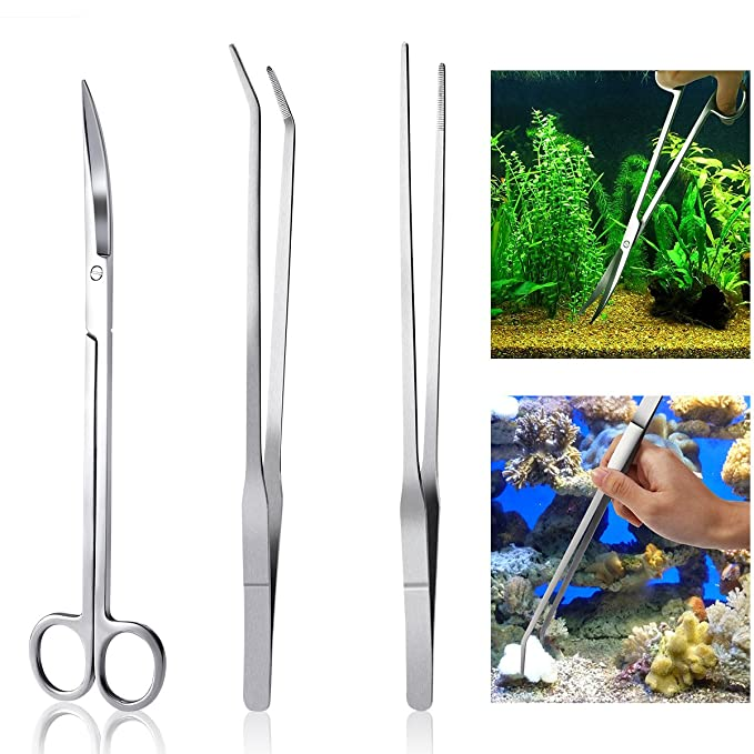 Amazon.com : UEETEK 3 Pcs Aquatic Plant Tools Aquarium Plant Tweezers, Fish Starter Kits for Pruning Cleaning Water Plant Grass Etc, Average Length 26CM ...