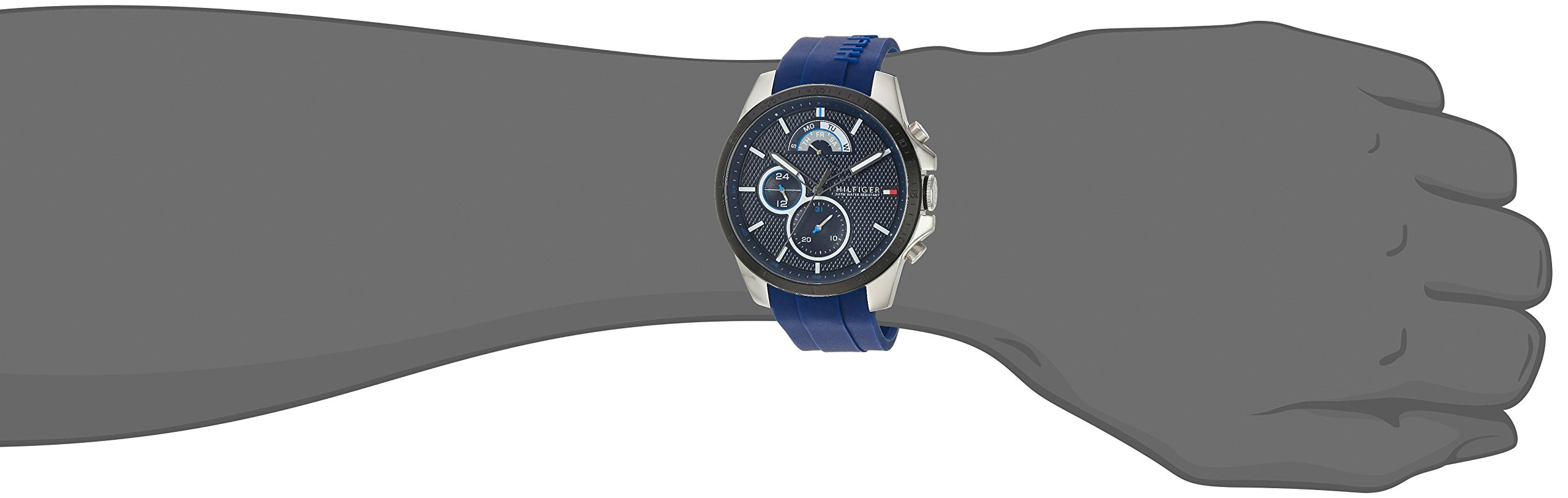 Tommy Hilfiger Men's 'COOL SPORT' Quartz Stainless Steel and Silicone Casual Watch, Color:Blue (Model: 1791350) by Tommy Hilfiger (Image #2)