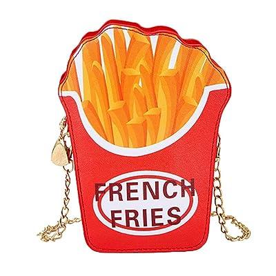 YJYdada Hamburger Fries Pattern Crossbody Bags Women Messenger Bags Chain Shoulder Bag (B)
