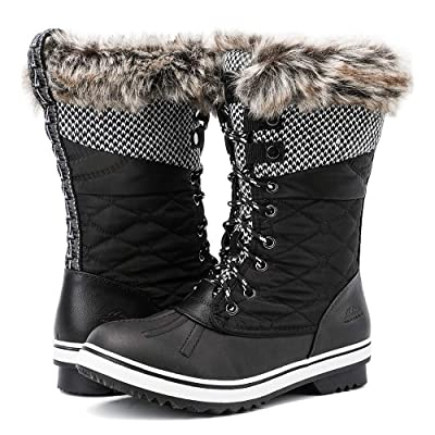 ALEADER Women's Mid-Calf Waterproof Winter Snow Boots | Snow Boots