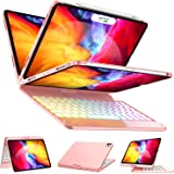Keyboard Case for iPad Pro 11 2020/2018 (1st/ 2nd Generation) - 360 Rotate - 17 Color Backlit - Wireless/BT - Auto Sleep…