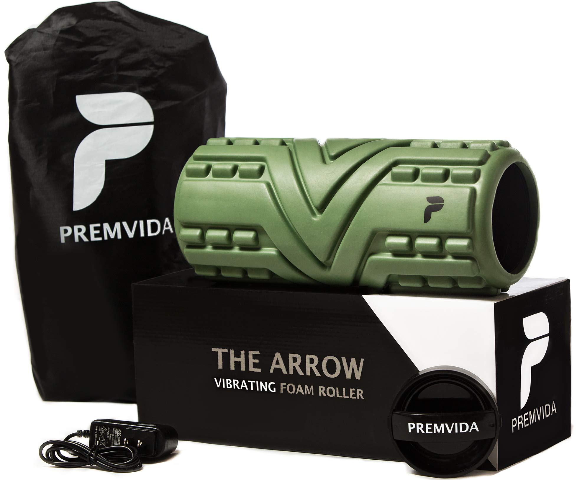 Premvida Vibrating Foam Roller, 3-Speed Vibrational Therapy for Trigger Point & Recovery, Deep Tissue Massage, Pliability & Pain Relief - Vibrant Electric Back Massage Roller Better Than Massage Ball