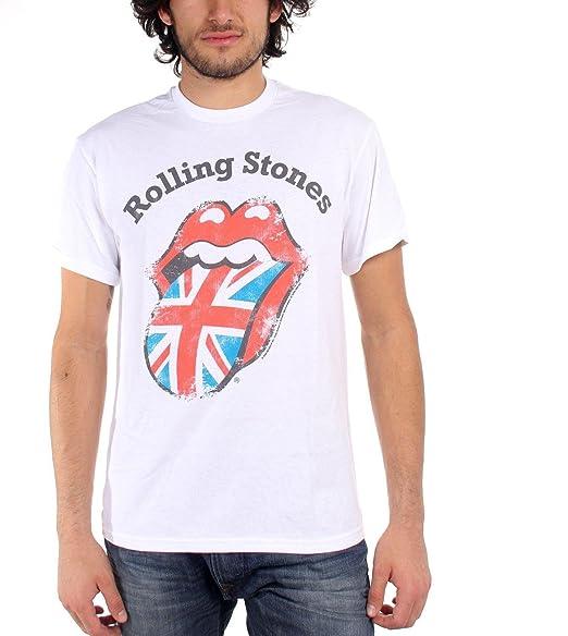 Rolling Stones Distressed Union Jack Mens T-shirt, Xl
