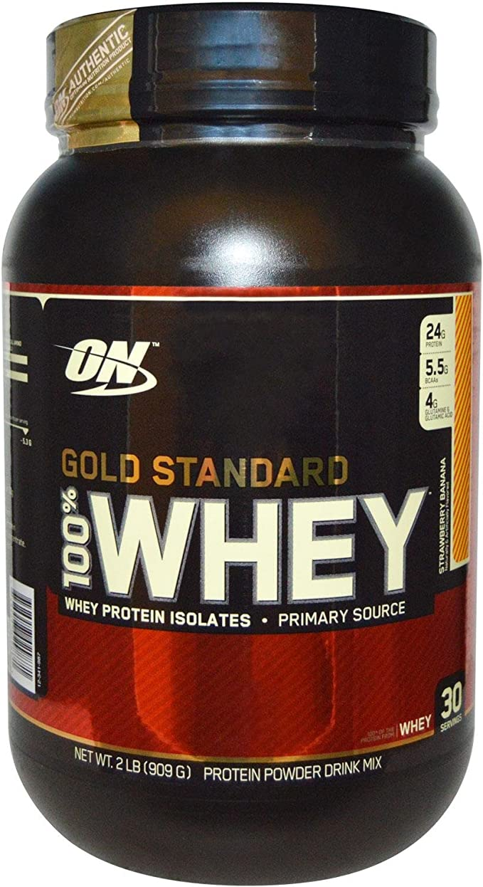 100% Whey Protein - Gold Standard Strawberry Banana 2 lbs