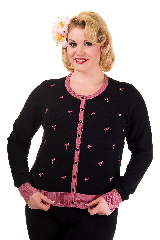 Banned Golden Touch Vintage Flamingo Cardigan - Plus Size
