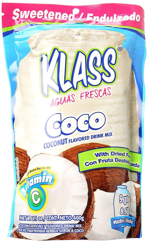 Klass Drink Mix, Coconut (Pack of 18)