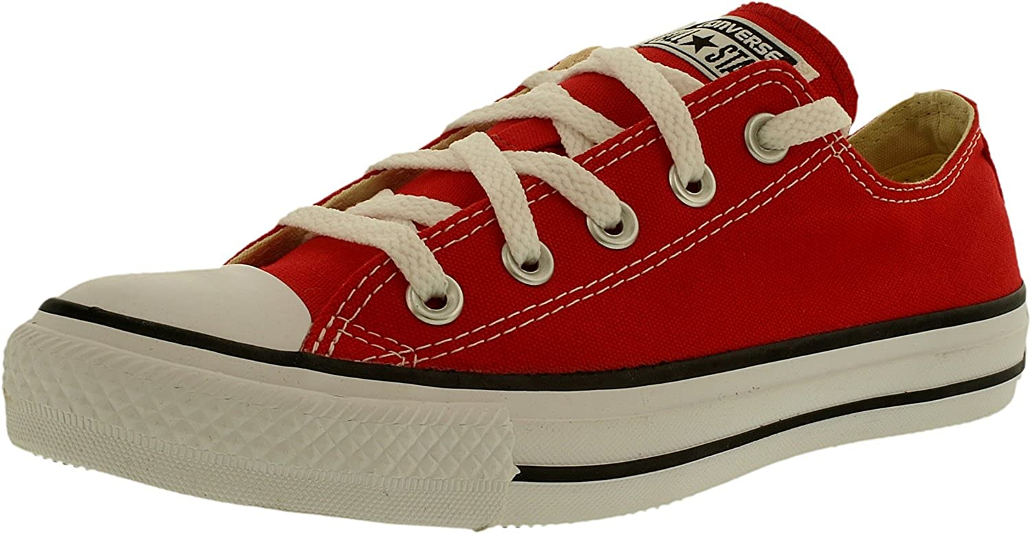 02a3383a14cd Converse Unisex Chuck Taylor All Star Low Top Red Sneakers - 8 B(M ...