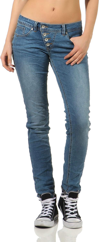 Buena Vista Damen Jeans Malibu Slim Fit Lila