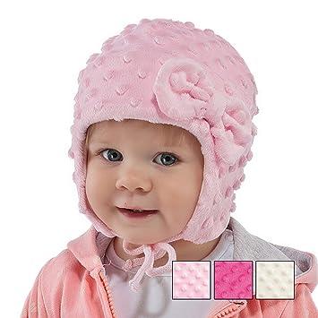 Neuf bébé fille Chapeau Filles chaud Bonnet Chapeau de baptême de baptême 0  -18 mois 03e8052d230