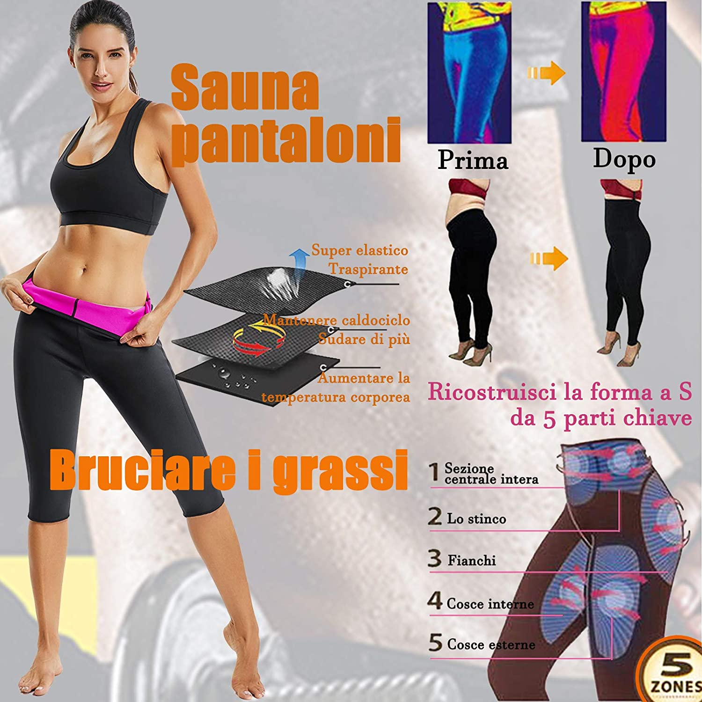 SEASUM Pantaloni di Perdita di Peso Sauna Sudore Hot Shaper Pantaloni Dimagrante Neoprene Pantaloni Termici per Sudorazione Yoga Fitness Alta qualit/à
