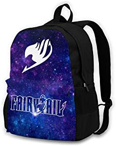 Fairy Tail Backpack,Students Multipurpose School Bag Oxford Cloth Wearable Anime Travel Hiking Bags Computer Bag for Women's