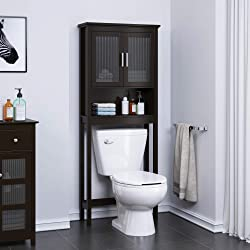Spirich Home Bathroom Shelf Over The Toilet Cabinet Organizer