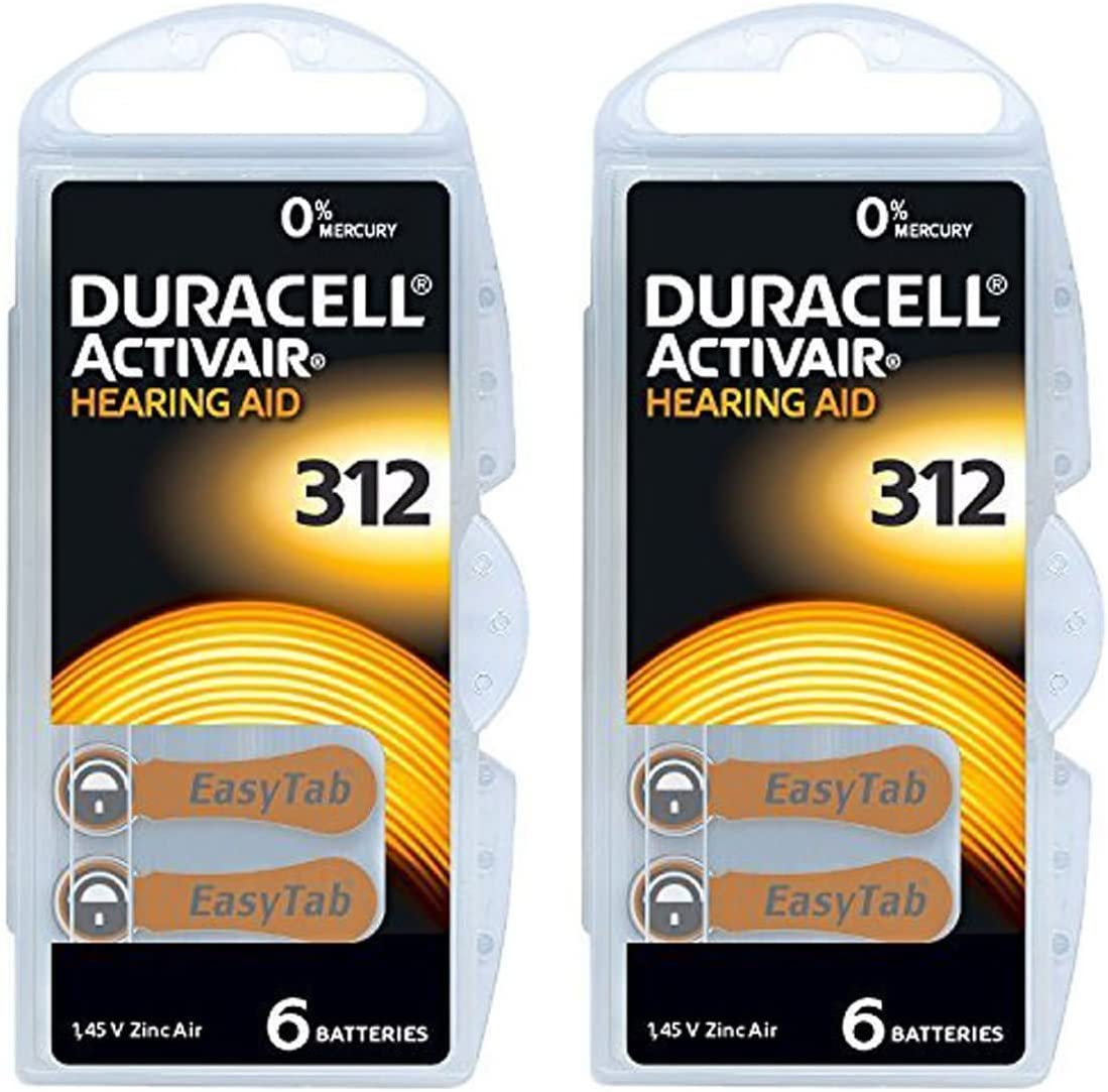 Duracell Hearing Aid Batteries Size 312 - 120 batteries