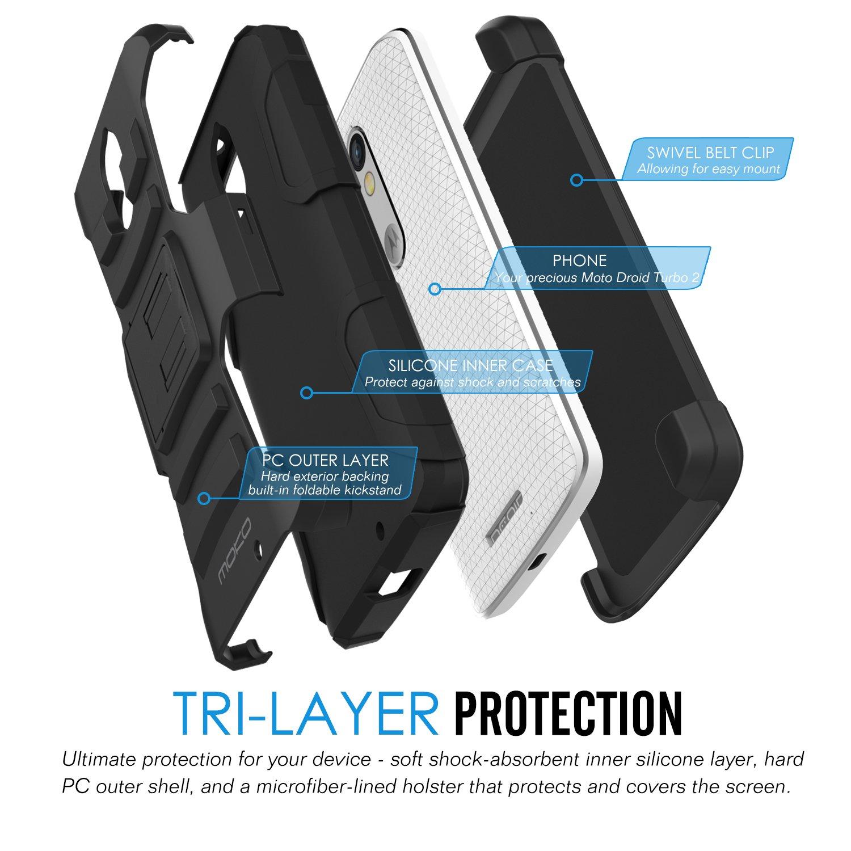 MoKo Motorola X Force Case [Heavy Duty] Full Body Rugged Holster Cover with Swivel Belt Clip: Amazon.es: Electrónica
