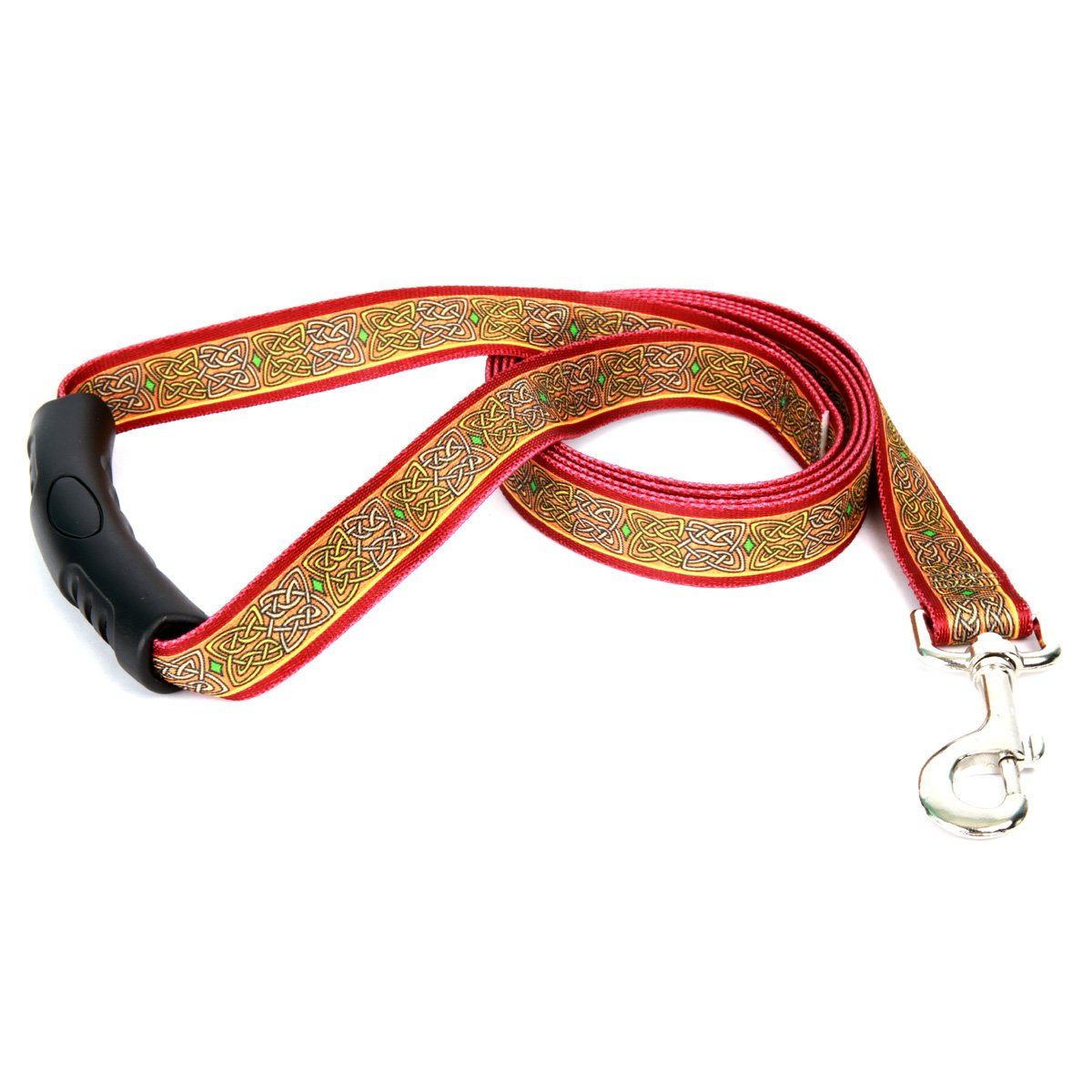 Yellow Dog Design Celtic Ez-Grip Dog Leash with Comfort Handle 1'' Wide and 5' (60'') Long, Large