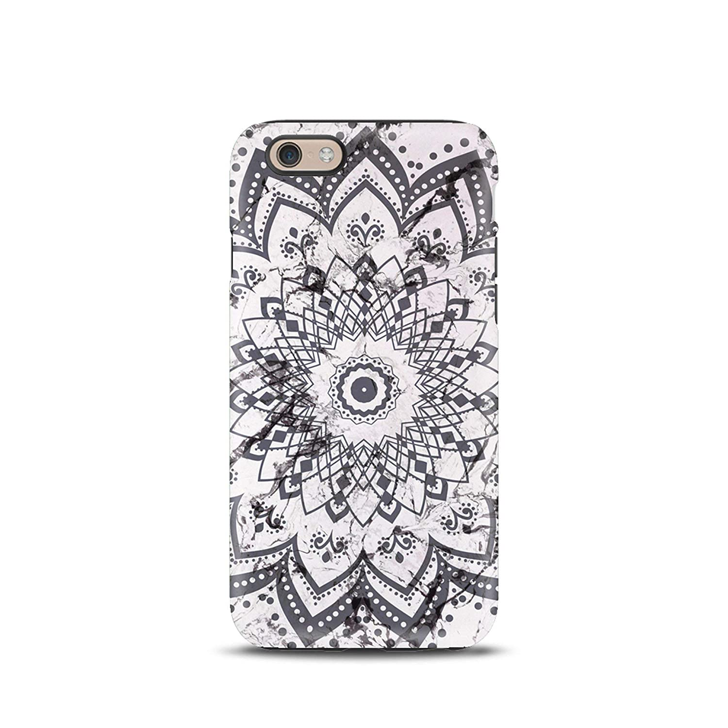 Mandala Marble Boho cover case TPU Tough for iPhone 5, 5s, 6, 6s, 7, 7 plus, 8, 8 plus, X, XS, for Galaxy S6, S7, S8